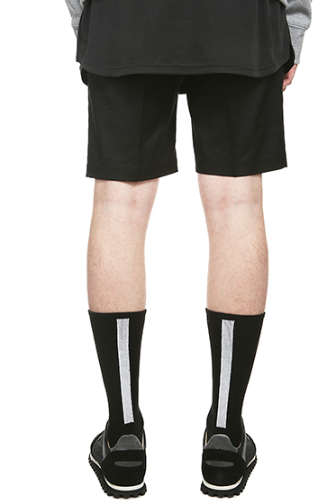 S SY HIGH TENSION BACK LINE SOCKS BLACK