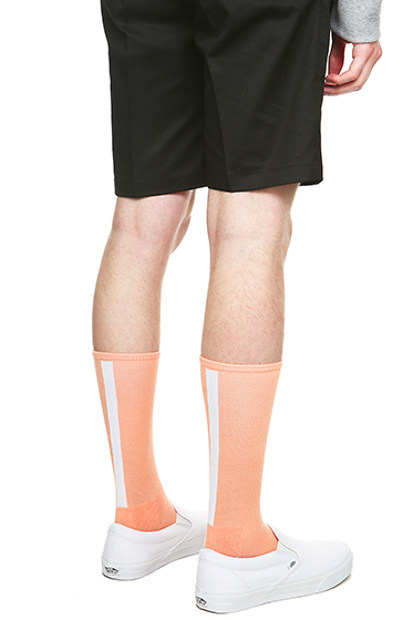 S SY HIGH TENSION BACK LINE SOCKS CORAL