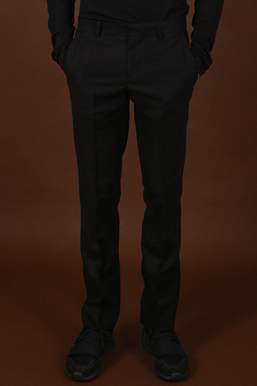 wool milano slacks black