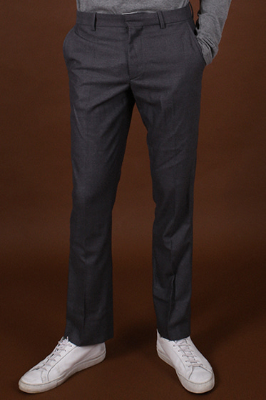 wool milano slacks grey