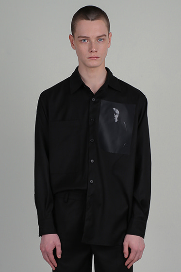 ssy MES oversize shirt black [sold out]