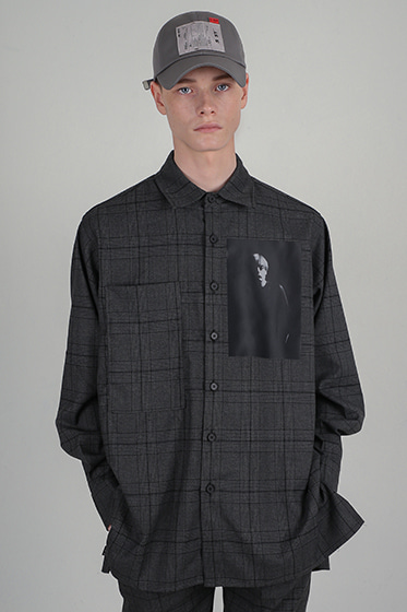 ssy MES oversize shirt grey check