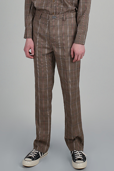 ssy glen wide pants brown