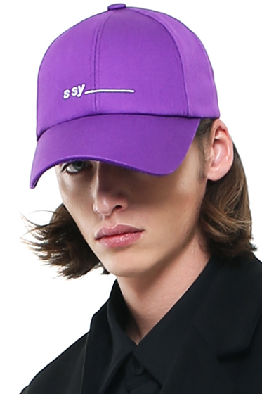 underbar logo minimal surface cap purple