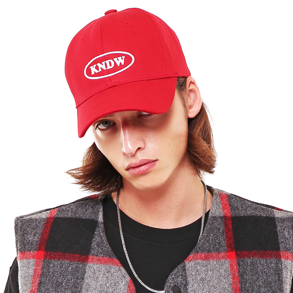 KNDW LOGO TWILL COTTON CAP RED