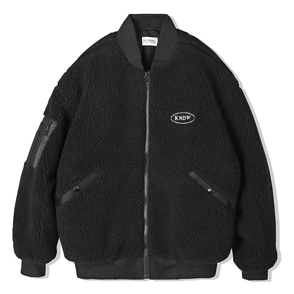 BOA FUR LOOSE FIT MA-1 JACKET BLACK