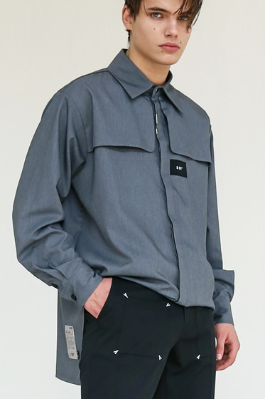 IRON TIP TRENCH SHIRT GREY
