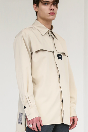IRON TIP TRENCH SHIRT BEIGE