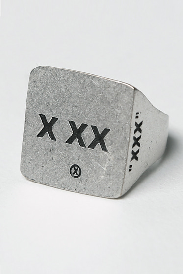 X XX LOGO RINGS (SILVER BURNISH)