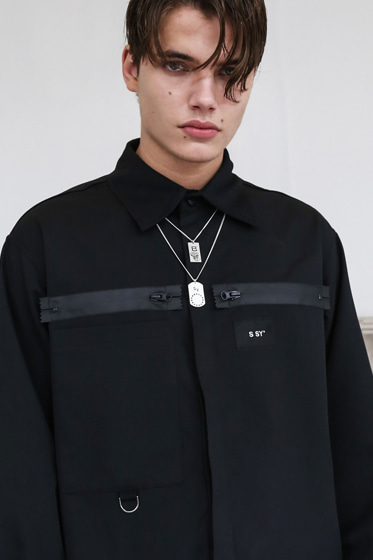19 ZIPPERED SHIRT BLACK