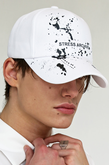 STRESS ARCHIVE PAINT CAP WHITE