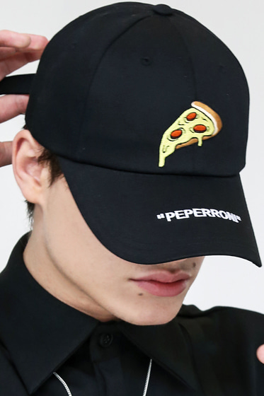 PEPERONI PIZZA CAP BLACK