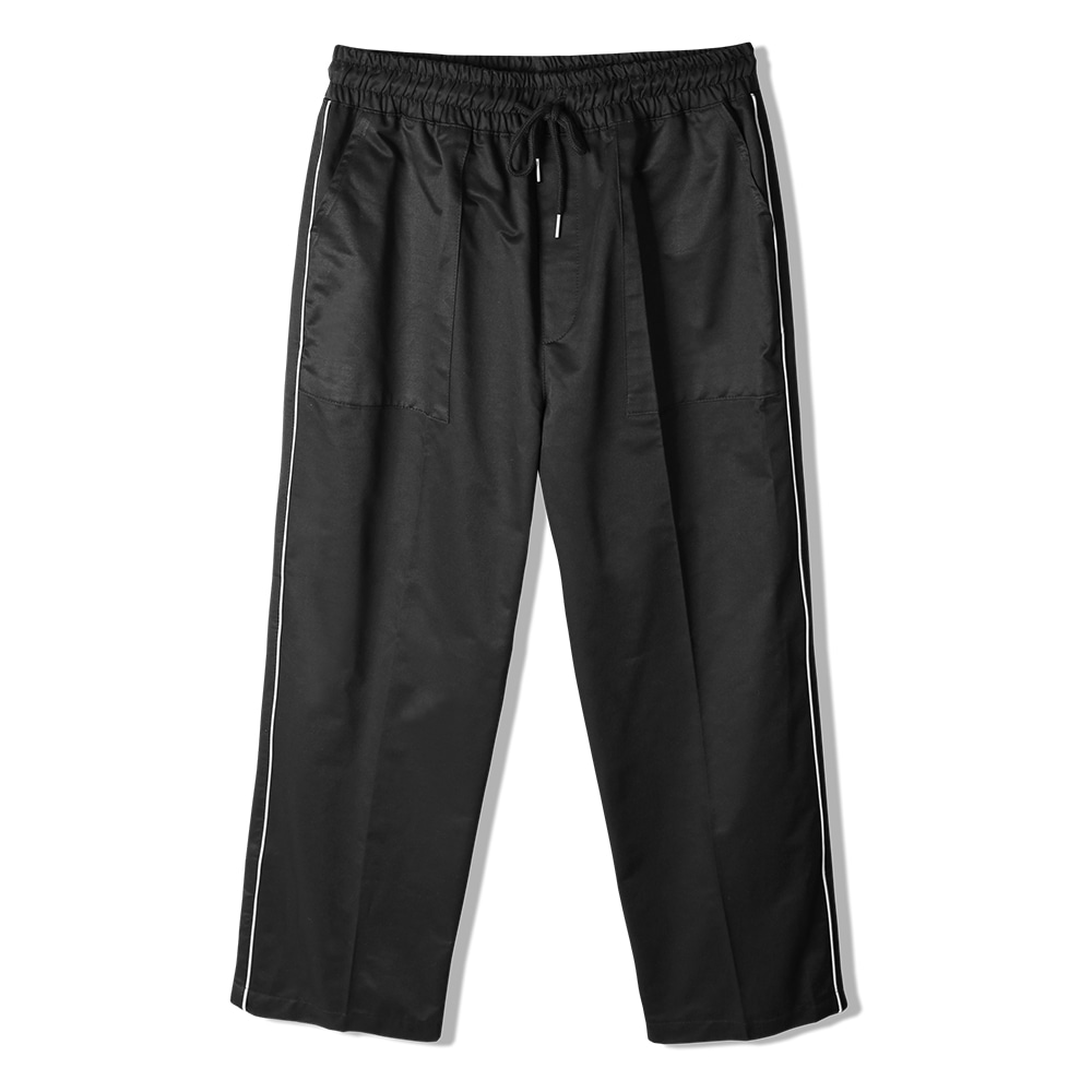 REFLECTION LINE WIDE PANTS BLACK 3M scotchlite