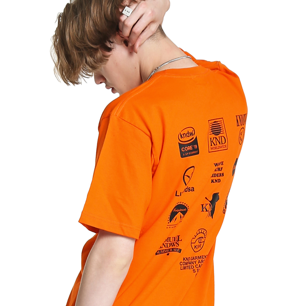 LOGO ARCHIVE GRAPHIC T-SHIRT ORANGE