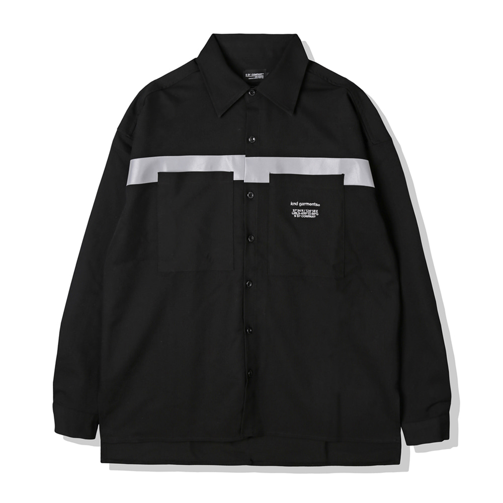 REFLECTION LINE OVERSIZE SHIRTS