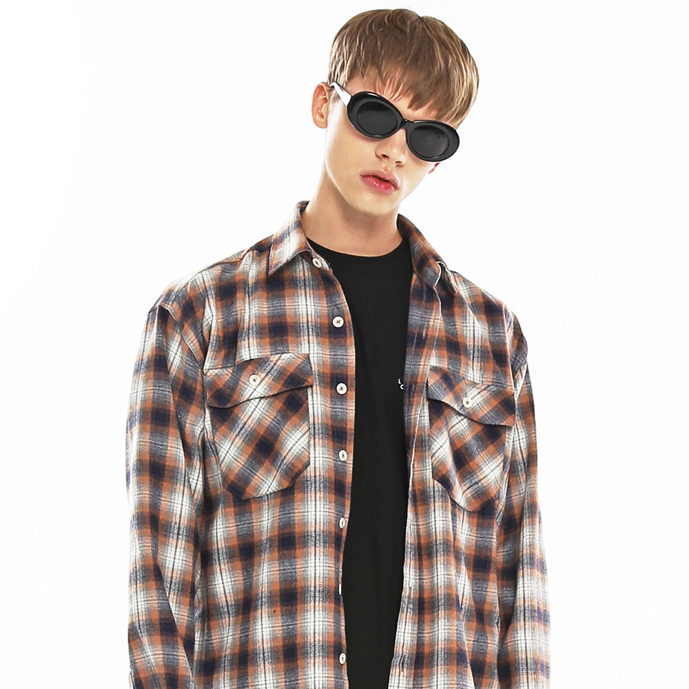 NEO TARTAN LOOSE FIT SHIRT-K OR