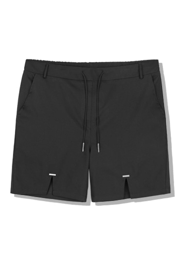 tip string half pants black