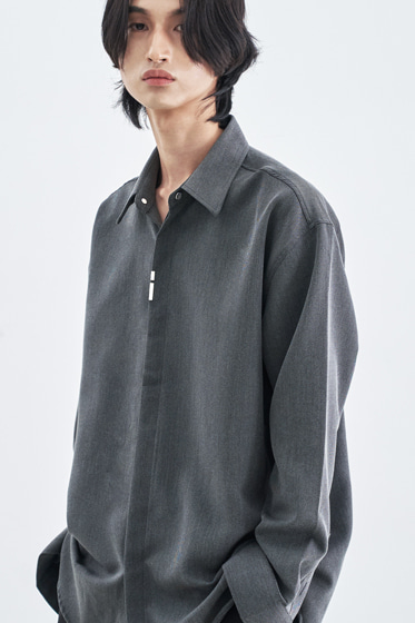 VERTICAL TIP BASIC SHIRT RELAXED FIT GREY