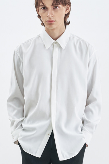 SUPREME TOUCH RELAXED FIT SHIRT WHITE