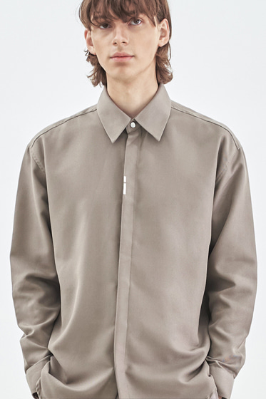 VERTICAL TIP BASIC SHIRT RELAXED FIT BEIGE